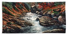 Autumn Brook Beach Towel