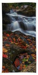 Autumn Cascade Beach Towel