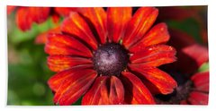Autumn Flowers Beach Sheet
