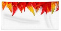 Autumn Leaves Beach Sheet by Tilen Hrovatic