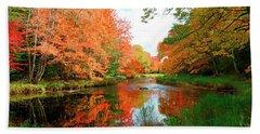 Autumn On The Mersey River, Kejimkujik National Park, Nova Scotia, Canada Beach Sheet