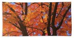 Autumn Orange Beach Sheet