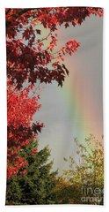 Autumn Rainbow Beach Sheet