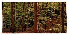 Autumn Woodland Beach Towel