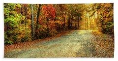 Autumns Path Beach Towel