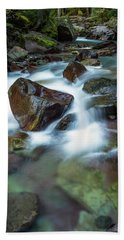 Avalanche Creek Rapids Beach Towel