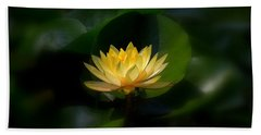 Yellow Lotus Beach Towel