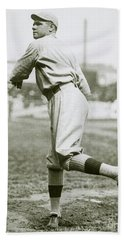 Babe Ruth Pitching Beach Towel