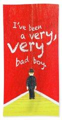 Bad Boy Greeting Card Beach Sheet