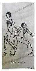 Ballet Practice Beach Sheet