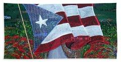 Bandera De Puerto Rico Beach Sheet