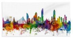 Bangkok Thailand Skyline Beach Sheet