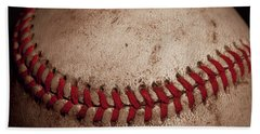 Beach Towel featuring the photograph Baseball Seams by David Patterson