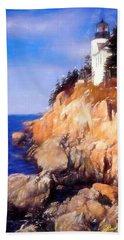 Bass Harbor Lighthouse,acadia Nat. Park Maine. Beach Sheet