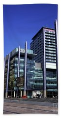 Bbc Media City  North Bay Salford Quays Salford Greater Manchester England Beach Towel