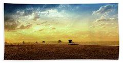 Beach Pier Beach Sheet by Joseph Hollingsworth