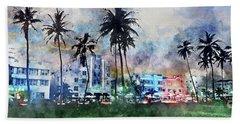 Beautiful South Beach Beach Sheet by Jon Neidert