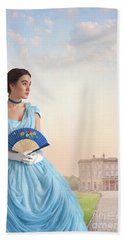 Beautiful Young Victorian Woman Beach Towel