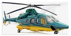 Helicopter Beach Towels