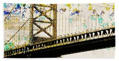 Ben Franklin Bridge Philadelphia Beach Towel