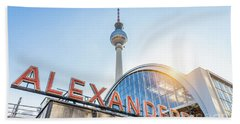 Berlin Alexanderplatz Beach Towel