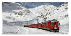 Bernina Winter Express Beach Towel