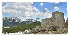 Big Horn Mountains In Wyoming Beach Sheet