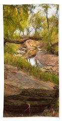 Big Stone Creek Beach Sheet by Ricky Dean