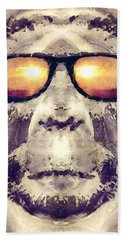 Bigfoot In Shades Beach Towel by Phil Perkins