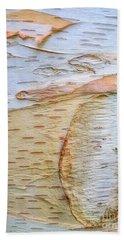 Birch Tree Bark Beach Sheet by Todd Breitling