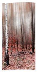 Birchforest In Fall Beach Towel