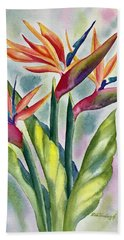 Bird Of Paradise Flowers Beach Sheet