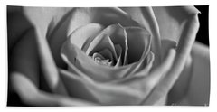 Beach Towel featuring the photograph Black And White Rose by Micah May