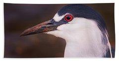 Black-crowned Night Heron  Beach Towel