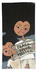 Black Lives Matter Beach Towel