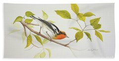 Blackburnian Warbler Beach Towel