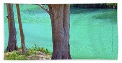 Blanco River Texas Beach Towel by Ray Shrewsberry