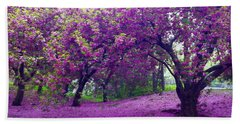 Blossoms In Central Park Beach Towel