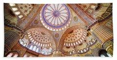 Blue Mosque Interior Beach Sheet