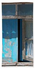 Blue Window Beach Towel by Edgar Laureano