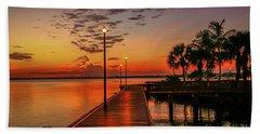 Boardwalk Sunrise Beach Towel