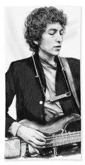 Bob Dylan Drawing Art Poster Beach Towel