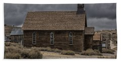 Beach Towel featuring the photograph Stormy Day In Bodie State Historic Park by Sandra Bronstein