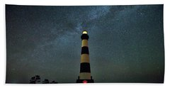 Bodie Lighthouse And Milky Way Beach Towel