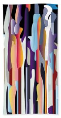 Boggie Woggie Brush Strokes Beach Sheet by Glenn Gemmell