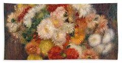 Bouquet Of Chrysanthemums Beach Sheet