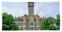 Bowling Green Court House Beach Towel by Mary Timman