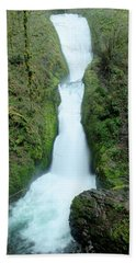 Beach Towel featuring the photograph Bridal Veil Falls by Jeff Swan