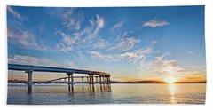 Bridge Sunrise Beach Towel