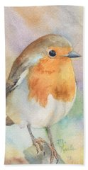 British Robin Beach Towel